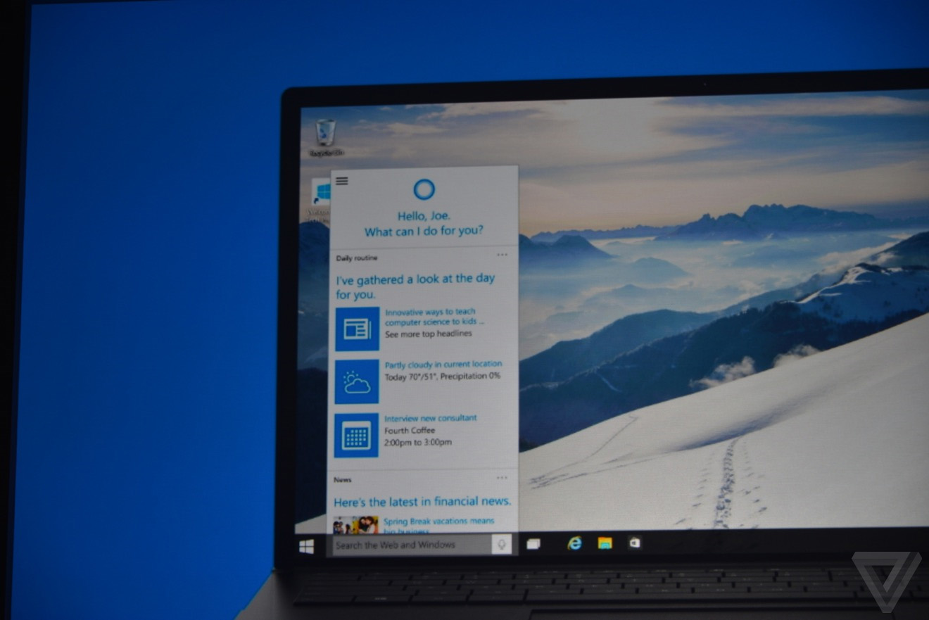 Cortana on PC - Windows 10